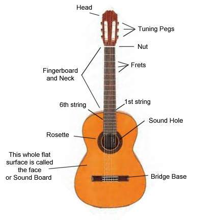 classical guitar part names. Black Bedroom Furniture Sets. Home Design Ideas